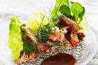 Krabbsallad med mörk senapssås och toast västerbotten - recept