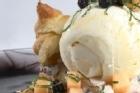 Bourbón Vanilla med petits-choux och melon och blåbärssallad - recept