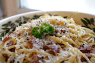 Spaghetti alla Carbonara classico - spagetti på kolarhustruns vis - recept