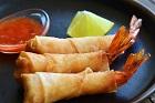 Firecracker shrimps, friterade filodegsräkor med sötsur sås ¤ - recept
