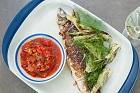 Ugnslagad sik med tomatfyllning och tomatsalsa - recept
