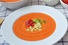 Gazpacho - andalusisk kall grönsakssoppa (förrätt) - recept
