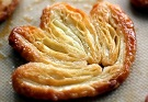Kanapéer med 4 fingrar, franska palmiers - recept