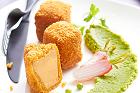 Cromesquis de foie gras, gås- eller ankleverkroketter (förrätt) - recept