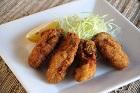 Kaki Fry, dubbelpanerade friterade japanska ostron - recept