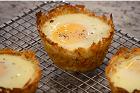 Gratinerade fågelbon, ägg i potatiskoppar - recept