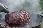 Rökgrillad kokt skinkstek - recept