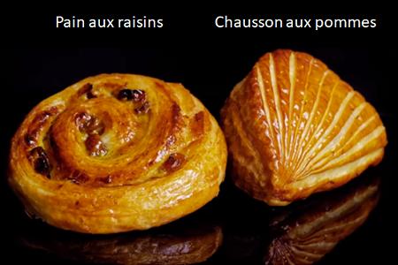 Pain aux raisin, frasiga romrussinbullar