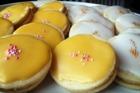 Mignonbakelser, vaniljkräm på mandeldegsbotten - recept