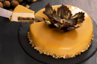 Moussetårta med valnötscaramel - recept