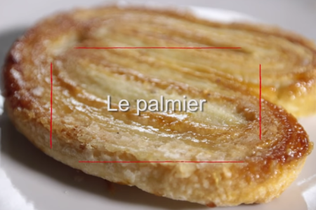 Palmiers, palmblad på franskt vis