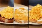 Äggröra, scrambled eggs, oeuf brouillé - svensk, amerikansk, engelsk och fransk - recept