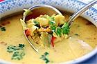Fisksoppa med räkor och saffran - recept